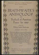 William Stanley BRAITHWAITE / Anthology of Magazine Verse First Edition 1929