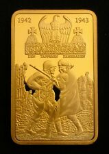 WWII Nazi Germany Battle of Stalingrad 24K Gold Plated Commemorative Coin Token