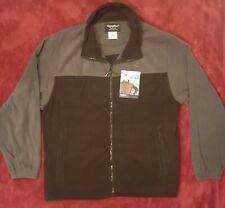 RefrigiWear Men's Heavyweight Fleece Jacket Full Zip 5XL !! NWT !! BLACK / GRAY