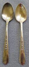 Two International Silver Silverplate Priscilla Teaspoons