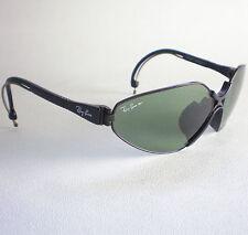 Vintage Ray Ban B&L USA GREEN CHROMAX SPORT SERIES Sunglasses black aviator wrap