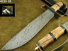 "MASSIVE 14.2"" ALISTAR HANDMADE DAMASCUS STEEL KNIFE D-GUARD BOWIE KNIFE (4133-10"