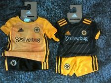 Wolverhampton Wanderers FC Wolves Baby Kit Home/Away Official Adidas New In Pack
