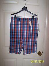 "NWT women's ""JONES NEW YORK SPORT"" plaid bermuda shorts - size 10 - $49"
