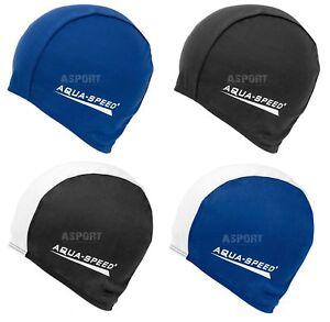 Badekappe Badehaube Schwimmmütze für Lange Haare Polyester CAP Aqua-Speed