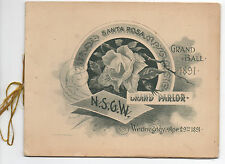 1891 NSGW Program for a Grand Ball at Santa Rosa CA with Nice Graphics