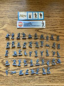 48 Airfix 1/72 German Infantry WWII PARTIALLY PAINTED Loose No Box