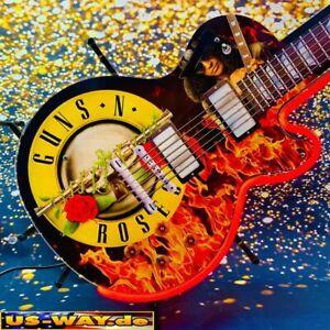 "N-0136 Neon ""Guns N Roses"" Gitarre Schild Leuchtreklame USA Neonreklame Vintage"