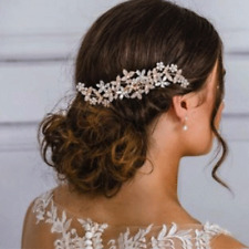 Gold Color Wedding Hair Combs For Bride Rhinestones Pearls Women Hairpins Bridal