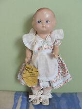 Poupée ancienne: adorable petite poupée américaine Character Doll 23 cm.