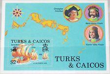 Islas Turcas & Caicos isl 1988 bloque 70 738 columbus ships barcos santa rita pita mnh