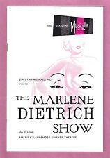 """Dallas, Texas """"The MARLENE DIETRICH Show"""" Burt Bacharach / Dave King '60 Program"""