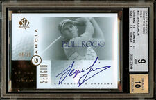 2001 RC SIGN OF THE TIMES GOLD #04/25 SERGIO GARCIA BGS 9 AUTO 10 UDG SOTT