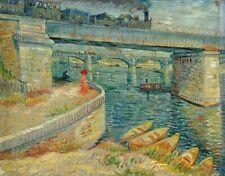 Vincent van Gogh Bridges Fine Art Poster Print on Paper Home Decor Repro 20x24