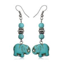 Elephant Turquoise Pendant earrings