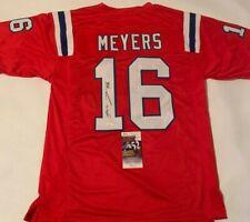 Jakobi Meyers Autographed New England Patriots Red Jersey JSA COA