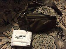 COACH PARKER TAUPE/BROWN PLEATED LEATHER SHOULDER BAG/PURSE/HANDBAG/BAG 13442