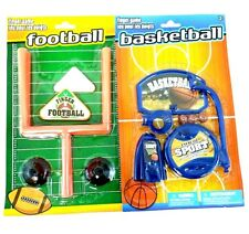 Desk Table Travel Office Toys Desktop Football and Mini Basketball Shooting Game