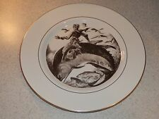"PICKARD CHINA COLLECTOR PLATE BOWLEG BILL 10 /4"" GOLD TRIMMED EXCELLENT"