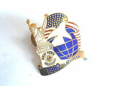 Vintage 1982 New York Lions Club Statue Liberty Atlanta Conference Pin Pinback