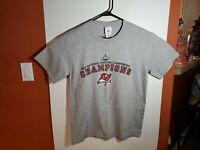 Tampa Bay Bucs Buccaneers 2002 Super Bowl XXXVII Champions Medium T Shirt Gray
