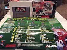 NFL Quarterback Club 96 (Nintendo SNES, 1995) mit Box und Code Handbuch