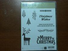 Stampin' Up Cling Mount Stamp Set Merry Mistletoe RETIRED!!