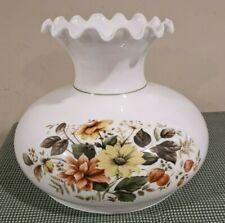 "Vintage Tam O Shanter 10"" Fitter Floral Print GWTW Hurricane Glass Lamp Shade"