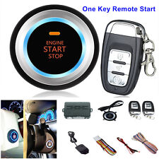 Car Alarm System Security Vibration Alarm Engine One Button Start Push Remote D7