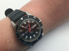 1970's Waltham Automatic 37mm Diver Watch Rotaing Bezel 25J Stainless Day Date