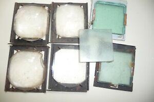 Kodak projector internal lens x 4  6x7x1cm+3 glass plates 55x55cm on 2 mounts U4