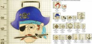 Nautical-themed decorative fobs, various designs & keychain options