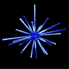 Blue Meteor Burst Starburst Christmas Holiday Outdoor LED Lighted Decoration