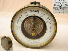 Late 19th century Lufft aneroid barometer with open face dial