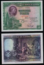 500 Pesetas año 1928. Cardenal Cisneros. Sin Serie 0822704. BONITO NO CIRCULADO.