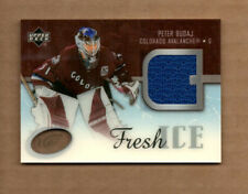 2005-06 Upper Deck Ice Fresh Ice Glass #FIBU Peter Budaj  Jersey Card