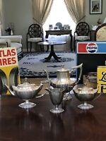 Rare Vtg./Antique Sterling Silver Gorham Plymouth coffee & tea set - No Monogram