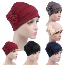 Women Hijab Turban Hat Lady Cancer Chemo Hair Loss Cap Head Scarf Wrap Cover FT