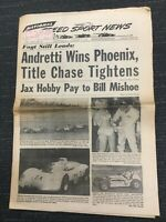 1967 - Mario Andretti - USAC - INDYCAR - NASCAR - Speed Sport News Newspaper
