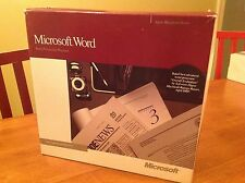 Microsoft Word Version 4.0  Apple Macintosh Series 0989 Part No. 07838