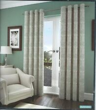 "90""x 90"" DUCK EGG JACQUARD FLORAL LINED EYELET CURTAINS"