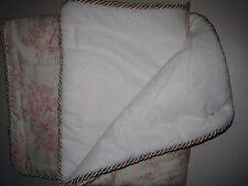 Glenna Jean Isabella Convertible Crib Rail Protector, Pink/Green/Cream, Short