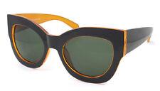 Oversized Cat Eye Sunglasses Celebrity House of Style Big Thick Frame DESIGNER Black Orange