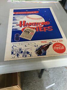 1952 Eastern Baseball League Hartford Chiefs - Scranton Program w/ticket stub