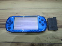 Sony PSP 3000 Console Vibrant Blue w/battery pack M767