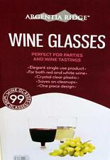 99 Clear Plastic Wine Glasses Red White Champagne Disposable 210ml