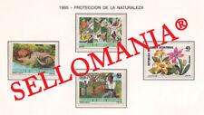 1985 NATURALEZA NATURE CRAB SNAIL FLOWER 73  76 ** MNH GUINEA ECUATORIAL TC21946