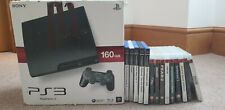 Playstation 3 slim 160gb with 15 games (PS3 and PS2), and 2 controllers