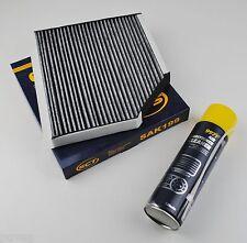 Innenraumfilter Mikrofilter Pollenfilter Aktivkohle +Klimareiniger Audi A4 A5 Q5