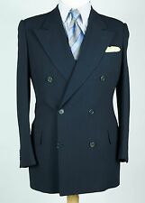 VINTAGE Giorgio Armani Double Breasted Navy Stripe Suit 50 Reg IT 40 Reg US